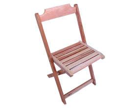 Cadeira de Madeira Dobrável Crua
