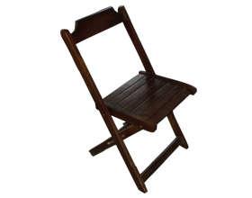 Cadeira de Madeira Dobrável Tabaco
