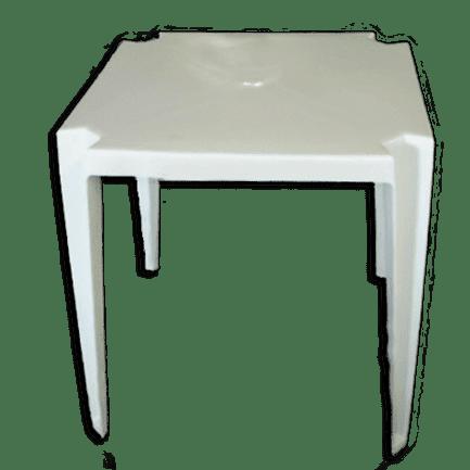 Mesa de pl stico quadrada goyana branca for Mesa plastico jardin
