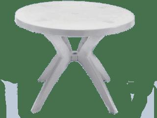 mesa de plástico desmontável redonda