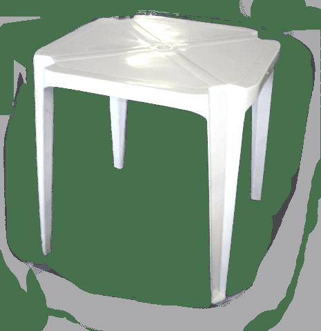 Mesa pl stica quadrada baemba for Mesas de jardin de plastico