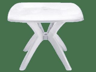 Mesa de Plástico Desmontável Quadrada