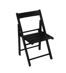 Cadeira de Madeira Dobrável Luxo Preta