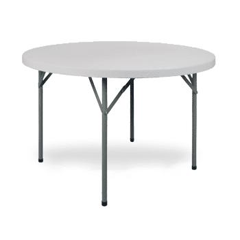 Mesa de Plástico Dobrável Cinza