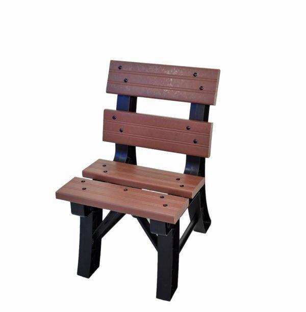 Cadeira de madeira pl stica for Bancos de jardin de plastico