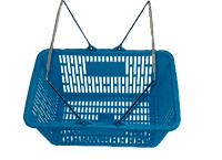 Cesta de Plástico Para Supermercado Azul