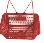 Cesta de Plástico Para Supermercado
