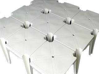 mesa de plastico com encaixe