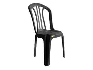 cadeira de plástico dunnap preta