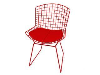 cadeira bertoia vermelha