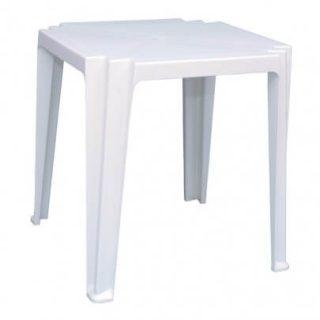 mesa de plástico branca