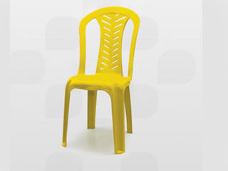 cadeira de plástico plastex amarela