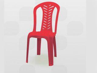 cadeira de plástico plastex vermelha