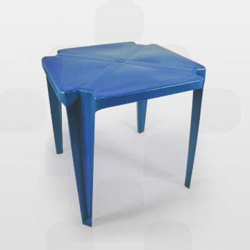 mesa de plástico plastex azul