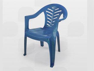 poltrona de plástico plastex azul