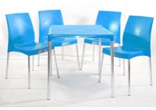 jogo mesa e cadeira de plástico jasmim azul