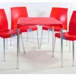 jogo mesa e cadeira de plástico jasmim vermelho