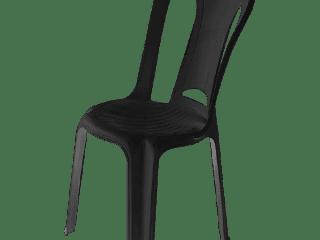 cadeira de plástico preta Amarilis