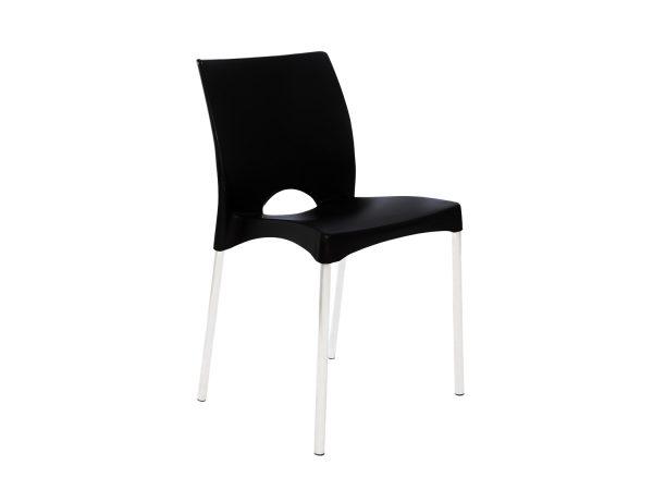 Cadeira de Plástico Boston Preta