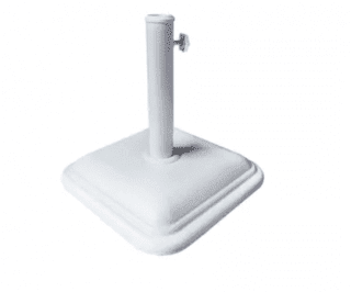 base de concreto para guarda-sol